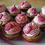 Cupcakes framboises et pralines roses