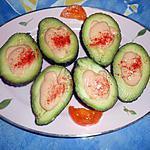 recette Avocats sauce rose