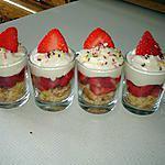 recette Verrine fraise-mascarpone