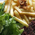 recette Steack de cheval haché/frites/laitue