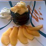 recette Petits moëlleux au chocolat au rhum et à la gelée de coings, avec ses pommes caramélisées(27)