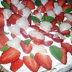 recette Pavlova fraises, litchis et menthe (trop bon, trop frais, idéal pour les beaux jours)