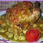 recette Poulet aux olives et tomates confites caramélisées