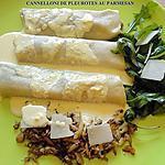 recette CANNELLONI DE PLEUROTES AU PARMESAN