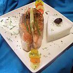 recette Darnes de saumon rose à la crème ciboulette.