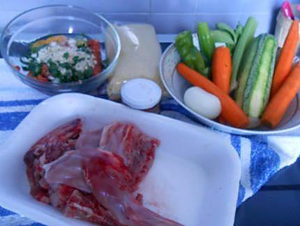 Couscous au lapin et boulettes de merguez 430