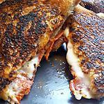 Croque chorizo et mozzarella