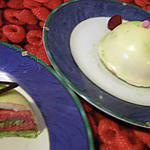 recette gateau pistache,mousse framboise,chocolat blanc