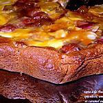 recette Tarte à la rhubarbe,spéculoos, amandes et caramel beurre salé