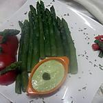 recette Asperges vertes à la mayonnaise d'asperges.