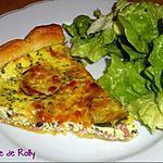 recette Tarte fine aux courgettes et lardons
