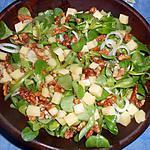 recette Salade de mache aux noix et cantal