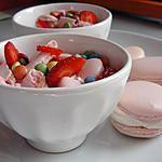 recette verrines fraise et chantilly à ma façon