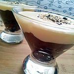 recette Verrines à l'italienne aux 3 chocolat (chocolat noir,nutella et chocolat blanc)