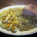 recette Kassler aux oignons et pommes de terre.