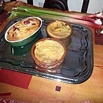 recette tartelettes rhubarbe blog nathalie la serviette  ou signe déco   et  dans le finistére