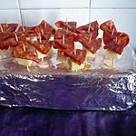 recette Amuses bouche chorizo/raclette Richemonts