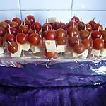 recette Amuses bouche tomates/mozzarella