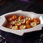 recette Tomates garnies mozzarella/ basilic