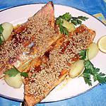 recette Filet de truite rose au curry et graines de sésame