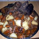 recette Cotes de sanglier aux légumes et en sauce.