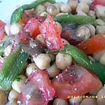 pois chiche aux poivrons grillés