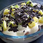 recette Tiramisu aux fruits et chocolat