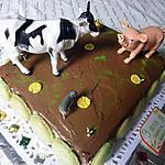 recette gateau d'anniversaire,thème:animaux de la ferme