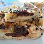 recette FLAN  POMME BANANE  ET  CHOCOLAT