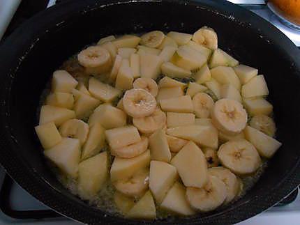 Flan pomme, banane et chocolat 430