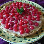 recette Tarte crème pâtissière/cerises au sirop