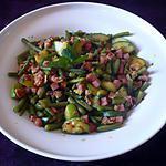 recette Poêlée haricots verts/courgettes/jambon