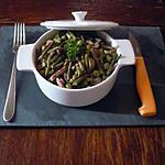 recette pôelée Haricots VS/petits pois/lardons