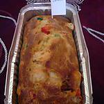 Cake poivrons/raclette/chorizo