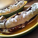 Carpaccio de bananes gourmandes nutellaté au rhum