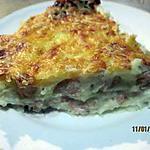 recette Purée de pommes de terre au saumon rose gratinée.