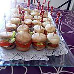 recette Minis hamburgers au poulet