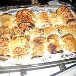 recette Aubergine roulé farcie en gratin