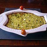 recette Gratin courgettes/bleu d'auvergne/bacon