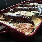 recette Gratin de courgettes aux merguez