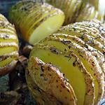 recette Pommes de terre au four avec une présentation qui étonnera vos invités ;-)