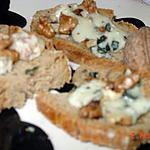 recette 'tite tartine roquefort et noix