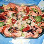 recette Salade de homard,crevettes,st jacques,moules