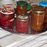 recette confitures fraises  et rhubarbe abricots;  et amandes ajoutées a la confiture d abricots,,,;et!!!!!