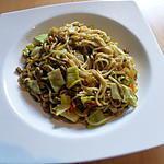 recette Chow mein de boeuf