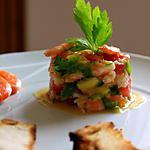 recette Salade de crevettte, mangue et tomate