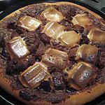 recette Pizza au chocolat et marshmallows