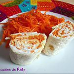 recette Wraps au chèvre frais et carottes