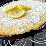 Tarte au citron sur sa pate chocolaté