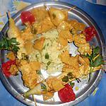 recette Brochette de poulet a l indienne